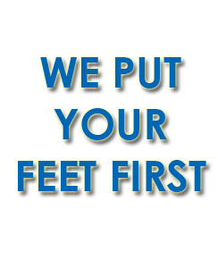 slogan - we put your feet first